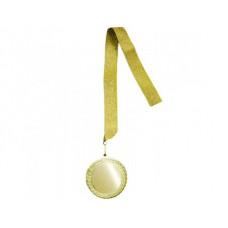 Наградная медаль. Комплект ЗОЛОТО. 70 мм.