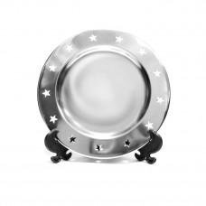 Тарелка металлическая, звездная окантовка, 150 мм
