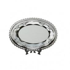 Тарелка металлическая, фигурная окантовка, овал 245*170 мм