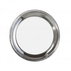 Тарелка металлическая, фигурная окантовка, 200 мм