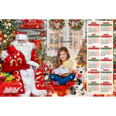 Новогодний настенный календарь 30х45 см. #20-702